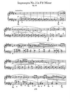 Impromptu No.2 in F Sharp Minor, Op.36: Para Piano by Frédéric Chopin