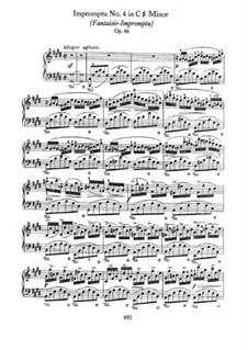 Fantasia-Impromptu in C Sharp Minor, Op.66: Para Piano by Frédéric Chopin