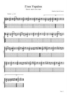 Shche Ne Vmerla Ukraina (Ukrainian National Anthem): Para Guitarra by Mikhail Verbytskyi