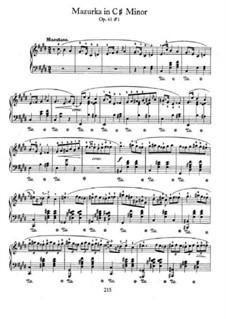 Mazurkas, Op.41: No 1 em C sustenido menor by Frédéric Chopin
