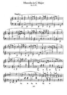 Mazurkas, Op.33: No.3 in C Major by Frédéric Chopin
