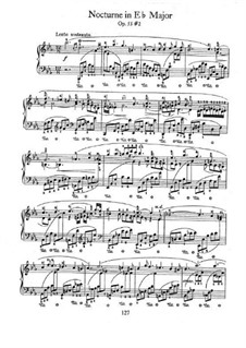 Nocturnes, Op.55: No.2 in E Flat Major by Frédéric Chopin
