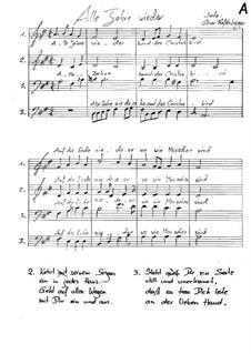 Alle Jahre wieder: SATB by Friedrich Silcher