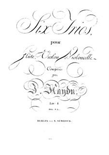 Six Trios for Flute, Violin and Cello: parte violoncelo by Joseph Haydn