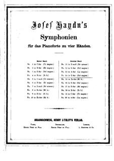Symphony No.92 in G Major 'Oxford', Hob.I/92: versão para piano de quatro mãos by Joseph Haydn