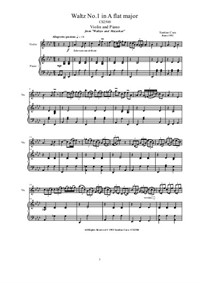 Cara - Two Violin Waltzes for Violin and Piano - Scores and Part, CS2502