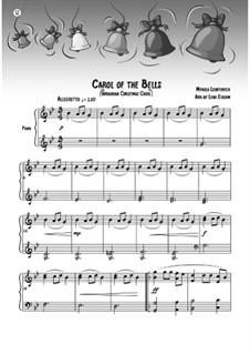 Carol of the Bells: Para Piano by Mykola Leontovych