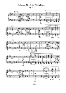 Scherzo No.2 in B Flat Minor, Op.31: Para Piano by Frédéric Chopin