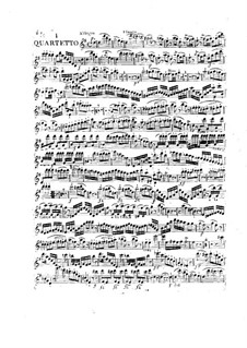Three Сoncert Quartets for Flute, Violin, Viola and Cello, Op.29: parte flauta by Franz Anton Hoffmeister