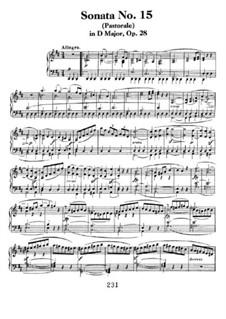 Sonata for Piano No.15 'Pastoral', Op.28: para um único musico (Editado por H. Bulow) by Ludwig van Beethoven