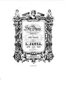 Six Duos for Two Violins, Op.74: violino parte I by Leopold Jansa
