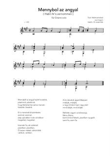 Mennybol az angyal: For guitar by folklore