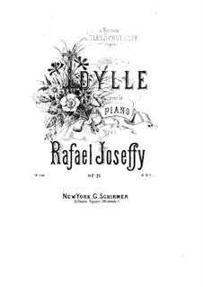 Idyll, Op.25: para um único musico (Editado por H. Bulow) by Rafael Joseffy
