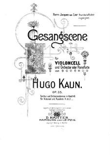 Gesangscene für Cello und Orchester (oder Klavier), Op.35: Parte de solo by Hugo Kaun