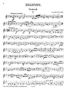 String Quartet in G Minor, Op.25: violino parte II by Arno Kleffel