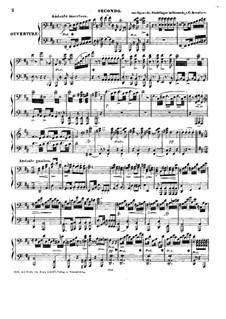 Das Nachtlager in Granada (The Night Camp in Granada): Overture, para piano para quatro mãos by Conradin Kreutzer