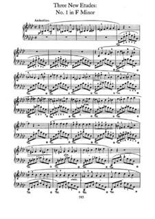 Trois nouvelles études, B.130 KK IIb/3: No.1 in F Minor by Frédéric Chopin
