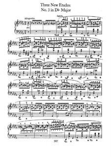 Trois nouvelles études, B.130 KK IIb/3: No.3 em D flat maior by Frédéric Chopin