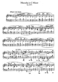 Mazurkas, Op.30: No 1 em C menor by Frédéric Chopin