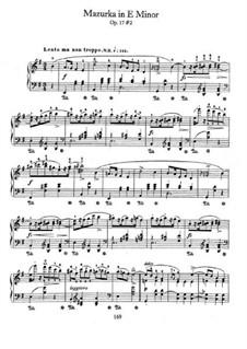Mazurkas, Op.17: No.2 in E Minor by Frédéric Chopin