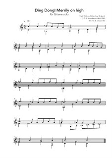 Ding Dong! Merrily on High: Para Guitarra by folklore