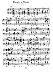 Mazurkas, Op. posth.68: No 1 em C maior by Frédéric Chopin