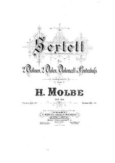 String Sextet, Op.64: violino parte II by Heinrich Molbe
