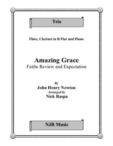 Amazing Grace: Trio for flute, clarinet and piano by folklore