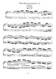 No.10 in G Major, BWV 796: Para Piano by Johann Sebastian Bach