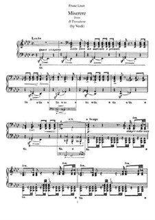 Transcription on Themes from 'Il Trovatore' by Verdi, S.433: Para Piano by Franz Liszt