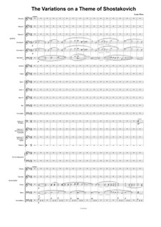 Variations on a Theme of Shostakovich: For orchestra of russian folk instruments by Lena Orsa