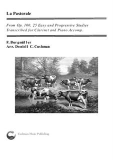 No.3 Pastorale: para clarinete e piano by Johann Friedrich Burgmüller