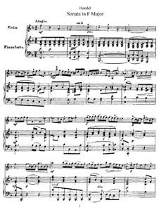 Sonata for Violin and Harpsichord in F Major, HWV 370 Op.1 No.12: versão para violino e piano by Georg Friedrich Händel
