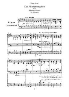 No.10 Das Fischermädchen (The Fisher-Maiden): Para Piano, S.560 No.2 by Franz Schubert