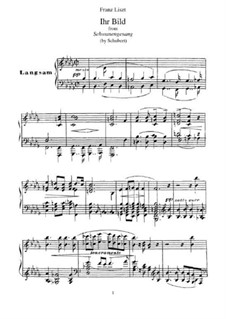 No.9 Ihr Bild (Her Portrait): Para Piano, S.560 No.8 by Franz Schubert