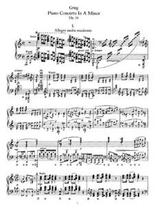 Piano Concerto in A Minor, Op.16: arranjo para piano by Edvard Grieg