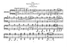 Suite No.1, Op.46: para piano de quadro mãos by Edvard Grieg