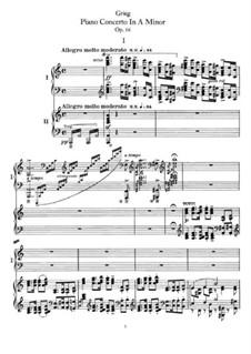 Piano Concerto in A Minor, Op.16: Movimento I. Versão para dos piano de quatro maõs by Edvard Grieg