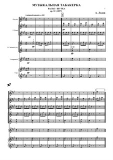 A Musical Snuffbox, Op.32: For chamber orchestra – score by Anatoly Lyadov