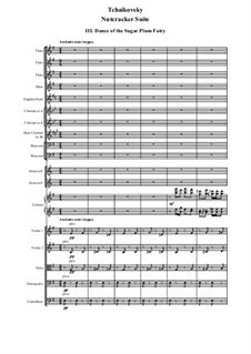 No.3 Dance of the Sugar-Plum Fairy: For symphonic orchestra – score by Pyotr Tchaikovsky