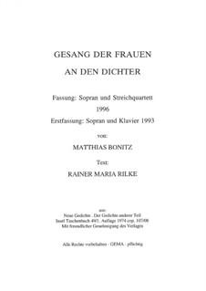 Canção das mulheres para o poeta: Canção das mulheres para o poeta by Matthias Bonitz