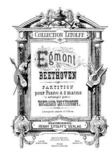 Egmont, Op.84: Partitura de piano com partes de vocal by Ludwig van Beethoven
