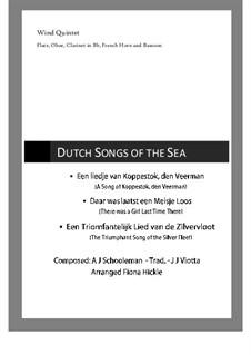 3 Dutch Songs of the Sea: 3 Dutch Songs of the Sea by folklore, Abraham Jacobus Schooleman, Joannes Josephus Viotta
