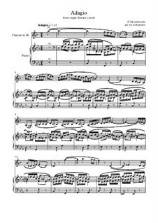 Sonatas for Organ, Op.65: Sonata No.2. Adagio. Version for clarinet and piano by Felix Mendelssohn-Bartholdy