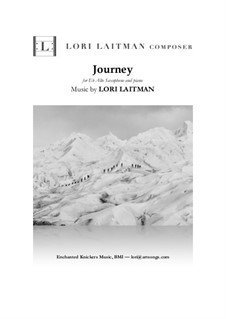 Journey: para alto saxofone e piano by Lori Laitman