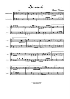 Barcarole for Recorder Duet: Barcarole for Recorder Duet by Annie Helman