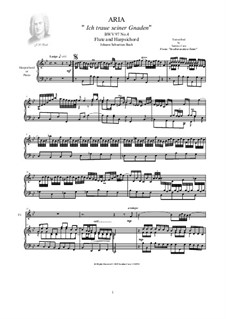In allen meinen Taten, BWV 97: No.4 Aria (Ich traue seiner Gnaden), for flute and harpsichord by Johann Sebastian Bach