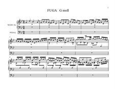 Fugue in G Minor 'Little', BWV 578: para um único musico (Editado por H. Bulow) by Johann Sebastian Bach