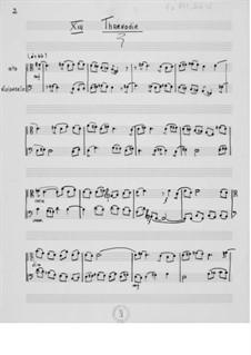Cantata No.7 'Solstices': No.13 Threnody  – Viola and Cello Part by Ernst Levy