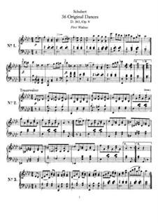 Thirty-Six Original Dances, D.365 Op.9: set completo by Franz Schubert